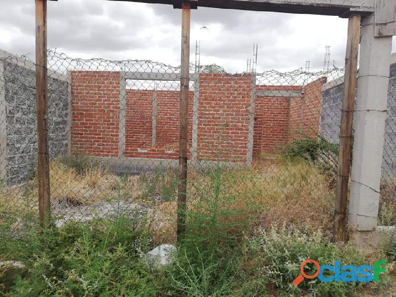 Casa Terreno con 145 m2 obra negra Trancoso Gpe Zac, Mex
