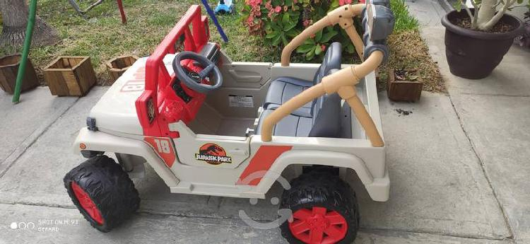 Carro jeep electrico jurassic world power wheels