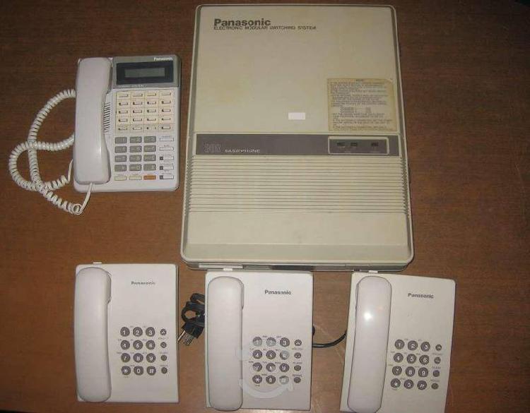 Conmutador panasonic kx-t30810 con telefonos