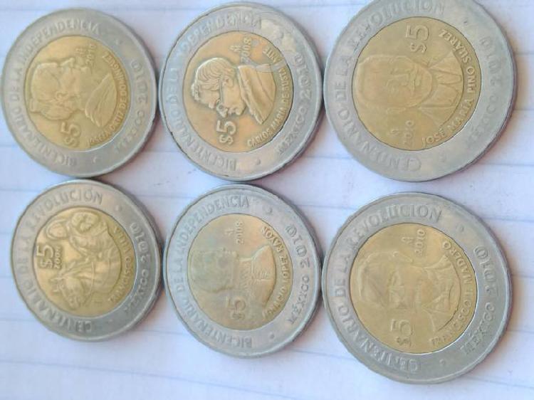 Monedas del bicentenario y centenario