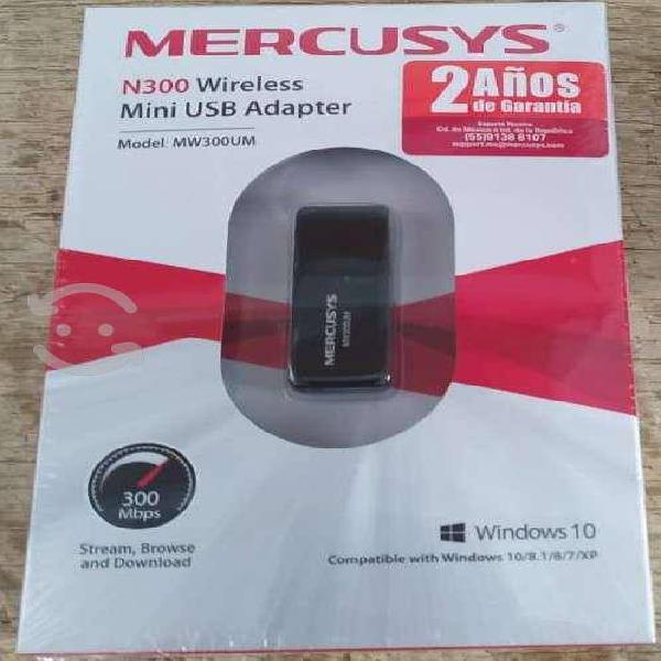 Adaptador usb wifi mercusys 300mbps para pc o lap