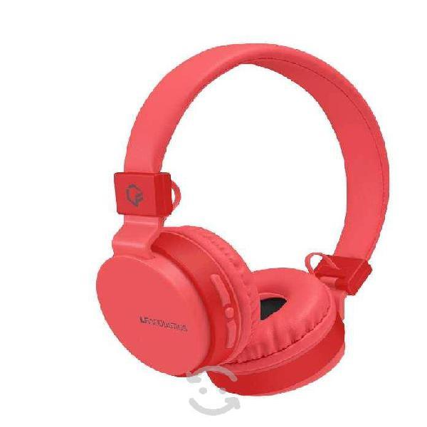 Audifonos on ear lf acustics vibe rojo bluetooth