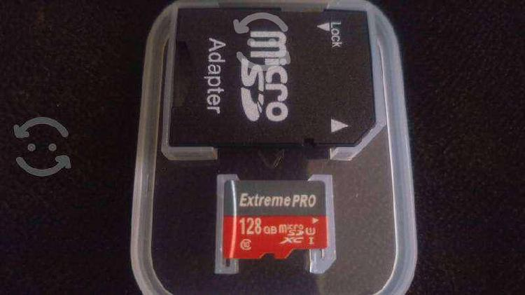 Micro sd 128gb $400 extreme pro clase 10!!!