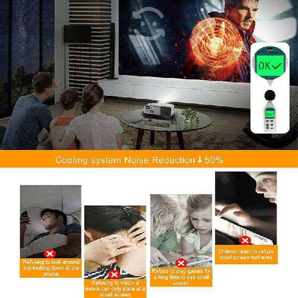 Proyector cine en casa 200 a 300 pulgadas 4k