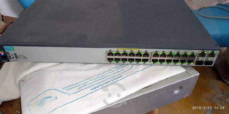 Switch hpe gigabit ethernet procurve 2620-24-poe+,