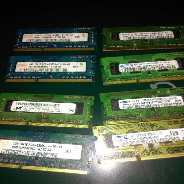 Memoria para laptop ddr3 de 1gb varias marcas