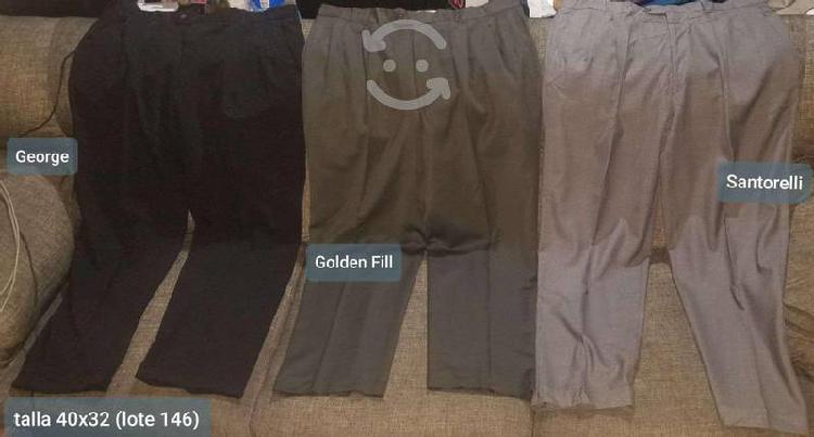 5 pantaloes de vestir talla 40 x 32