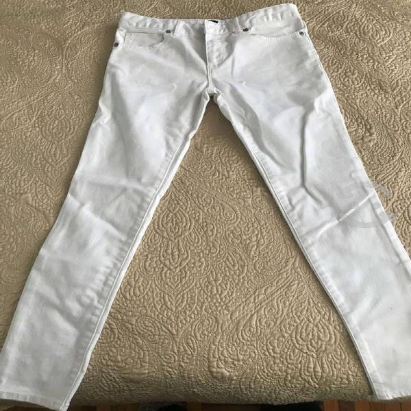 Pantalón mezclilla blanco niña gap talla 12