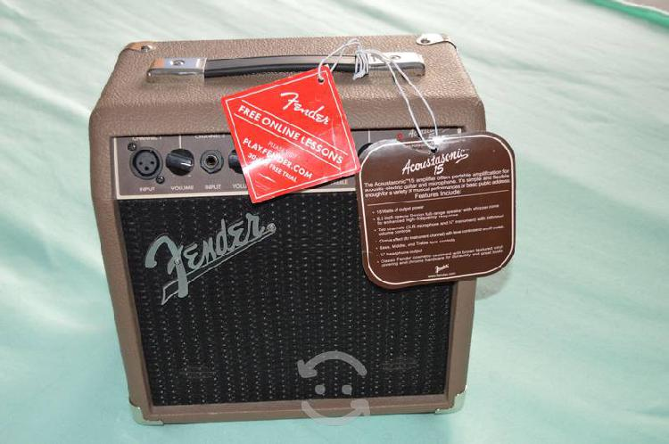 Amplificador para guitarra fender acustasonic