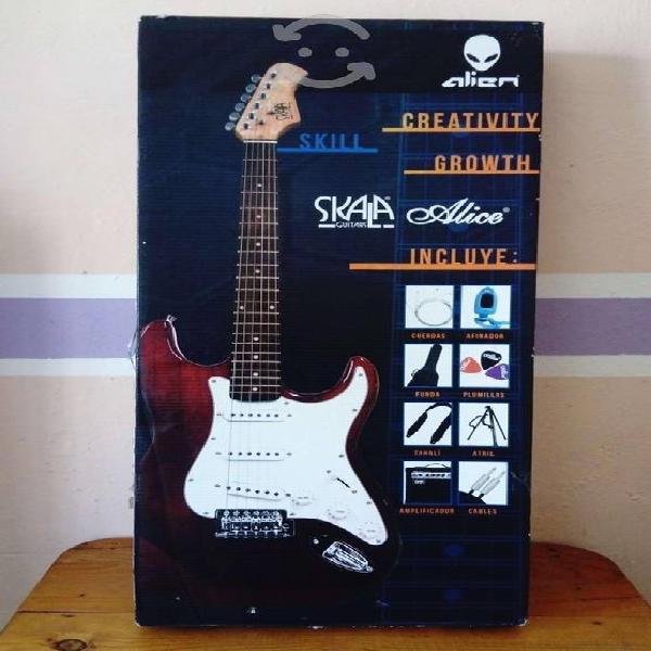 Guitarra electrica alien pro skala alice, nueva