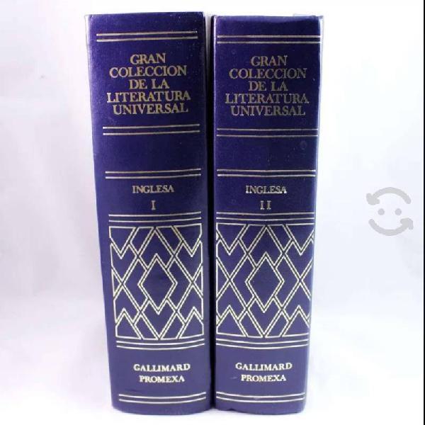 Libros de la literatura universal inglesa 1 y 2