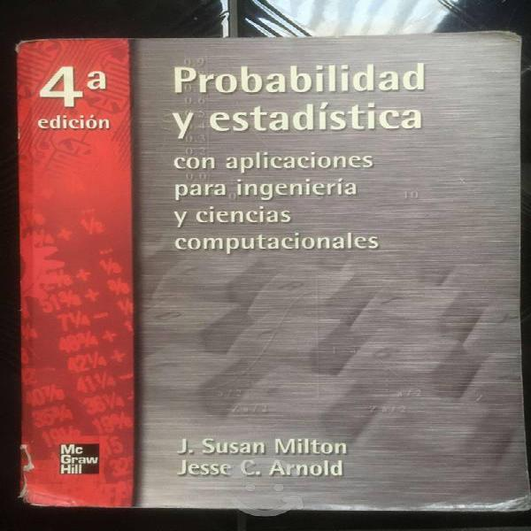 Libros de matemáticas, estadística e ingeniería