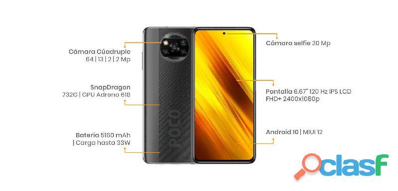 """Xiaomi Pocophone X3 NFC 64GB envío gratis en todo México """"Recíbelo en una semana"""" 6"""
