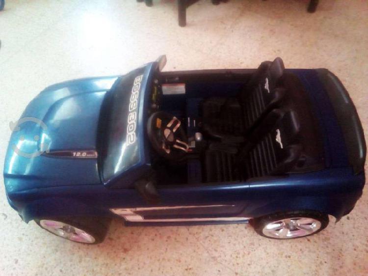 Carro eléctrico para niño mustang azul