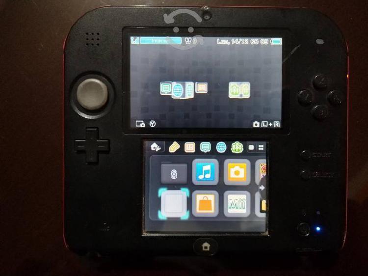 Nintendo 2ds negro y rojo