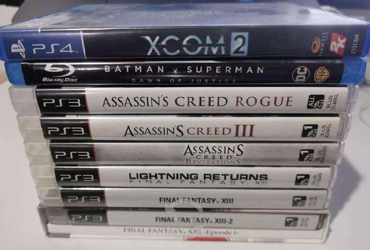 Paquete de juegos playstation 3 y 4 + bluray