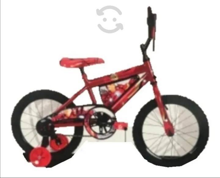 Bicicleta nueva de niño iron man r-16
