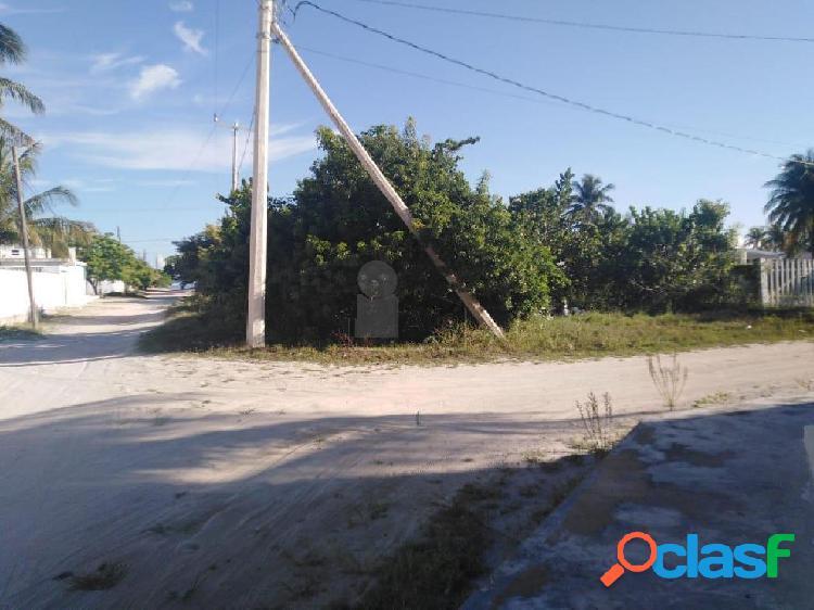 Terreno en venta en chelem, yucatán en esquina cerca de la playa