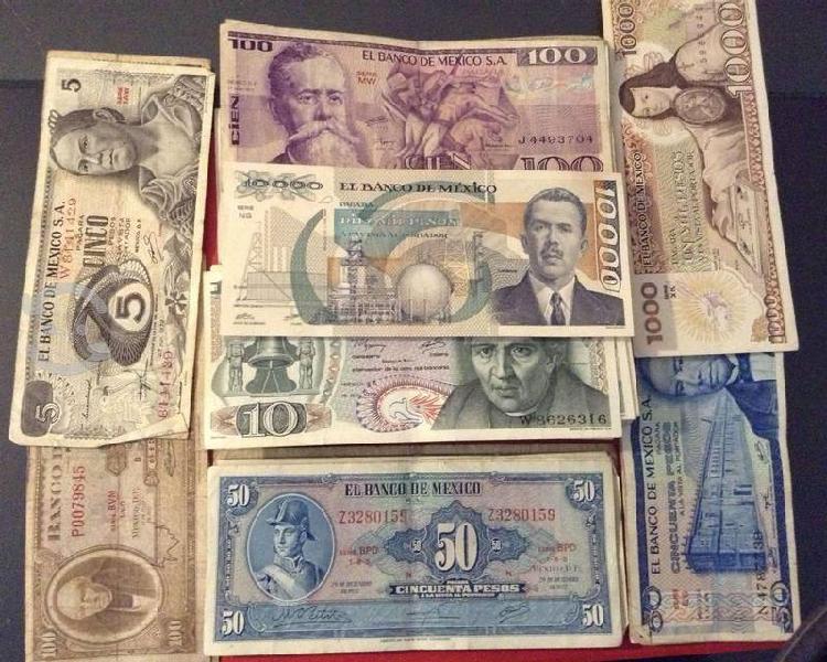 104 billetes mexicanos de colección