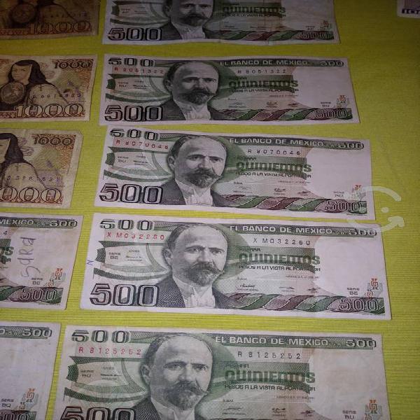 18 billetes diferentes denominaciones liquidación
