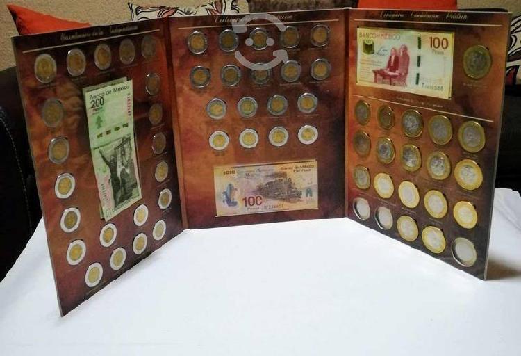 Album triptico de monedas y billetes bicentenario!