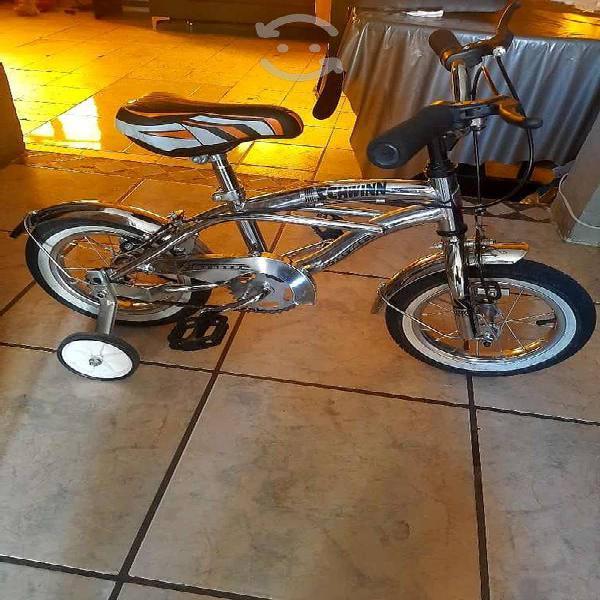 Bicicleta cromada rodado 12