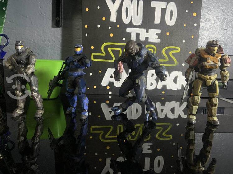Figuras de colección de halo, marvel y star wars