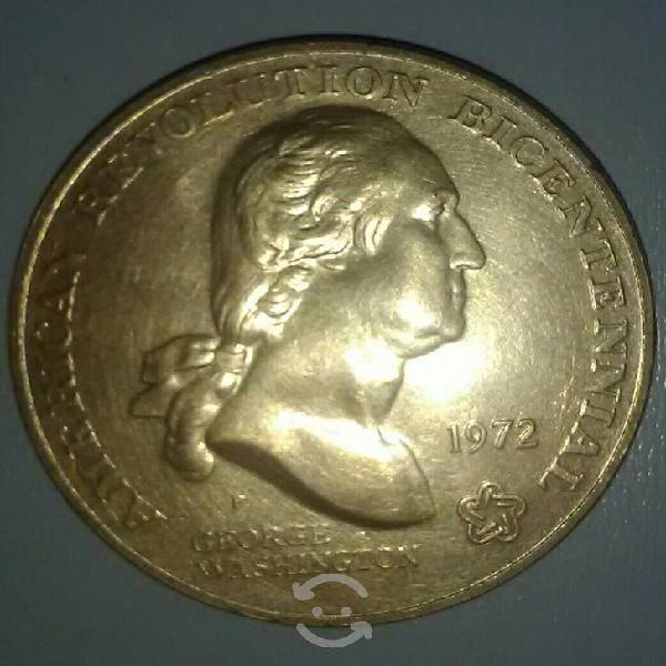 Moneda bicentenario revolución americana, 1972