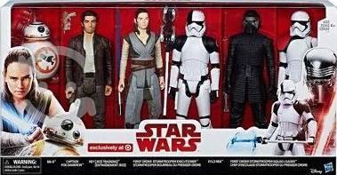 Oferta set 6 figuras star wars. the last jedi