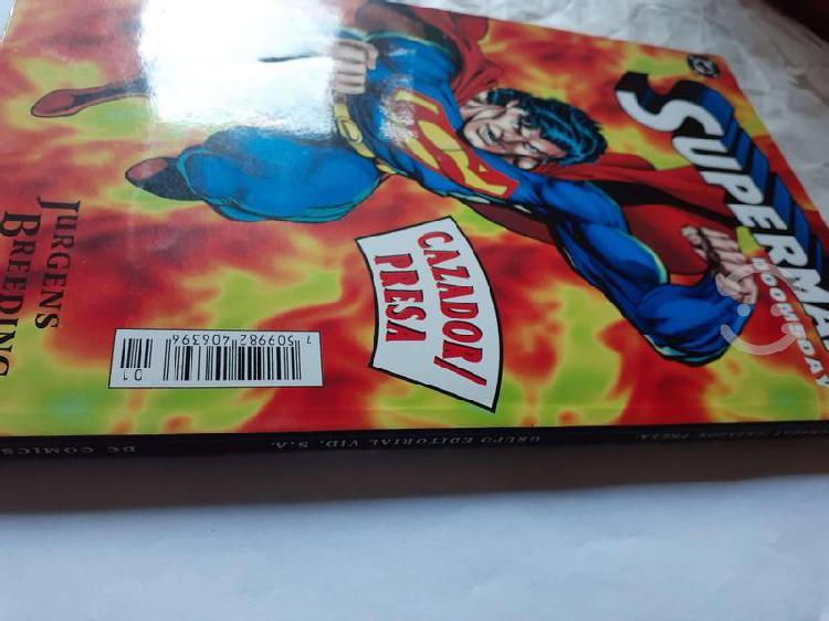 Superman/ doomsday. cazador/ presa. autografiado.