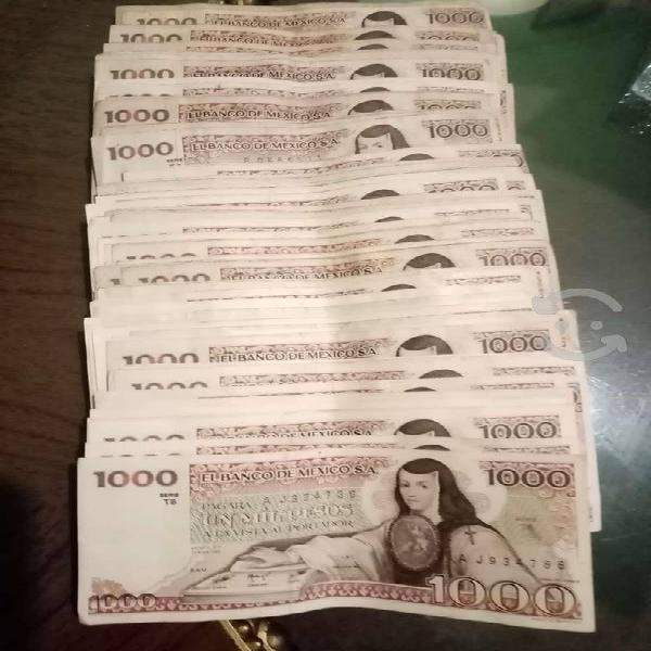 Vendo lote de billetes antiguos de méxico