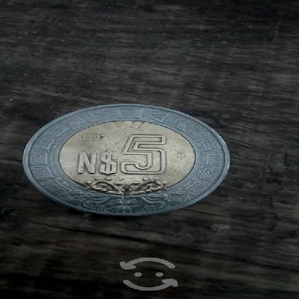 Moneda de n$ 5 del 93
