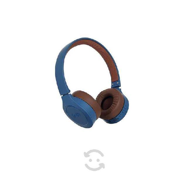 Audifonos diadema bluetooth ghia n2 hifi sound azu