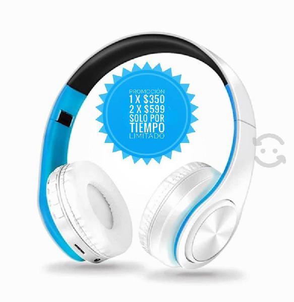 Audífonos bluetooth, manos libres y radio fm promo
