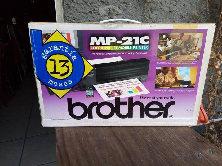 Impresora portátil brother mp_21c jet color