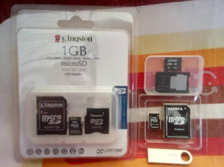 Memorias usb, micro sd, celular, calculadora