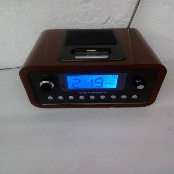 Bluetooth radio fm, reloj, despertador digital