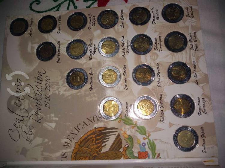 Colección completa monedas 5 pesos revolución inde
