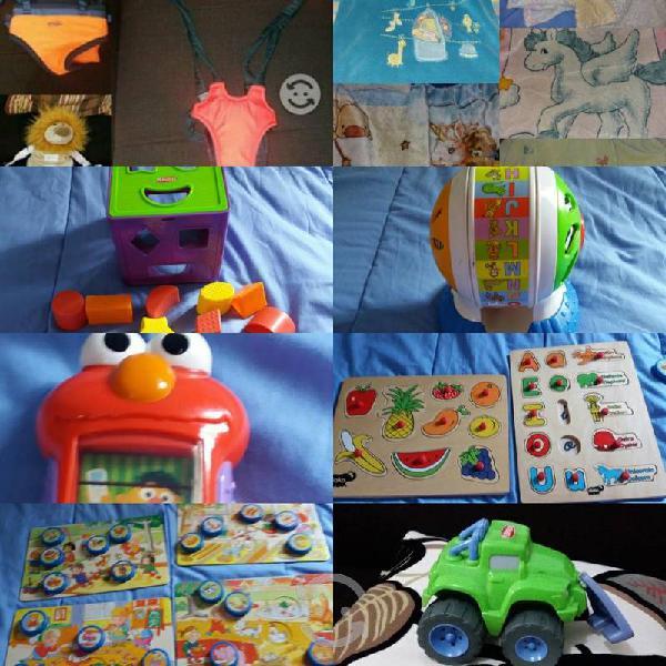 Lote juguetes y accesorios para bb