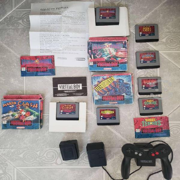 Nintendo Virtual Boy + 7 Juegos + cargador