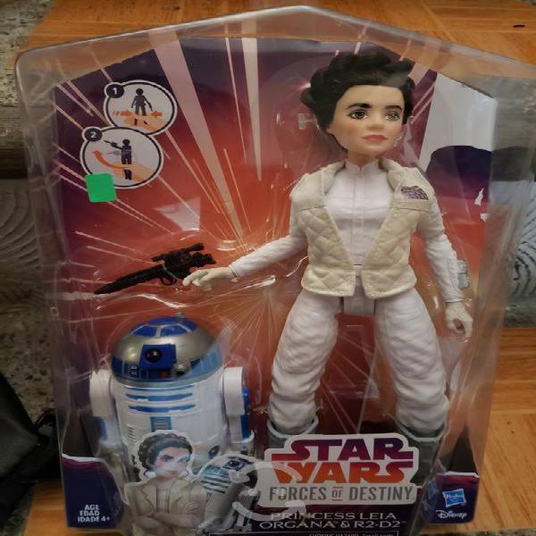 Star wars pack 2 figuras r2d2 o bb8