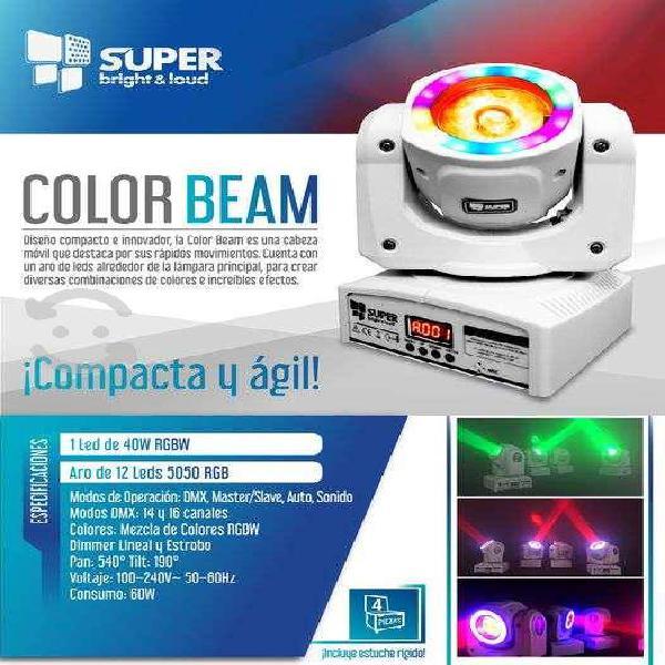 Cabezas móviles color beam super bright & loud