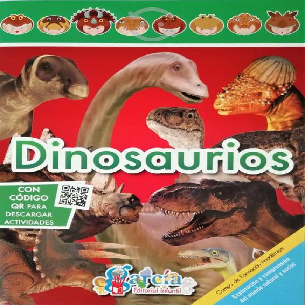 Colección 8 libros animales y prehistóricos niños