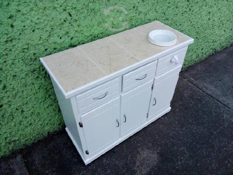 Base de cocina con portagarrafon cubierta azulejo