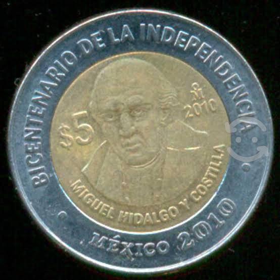 Monedas de 5 pesos de colección