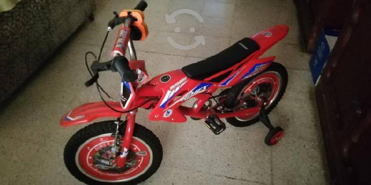 Bicicleta para niño o niña suena como moto..