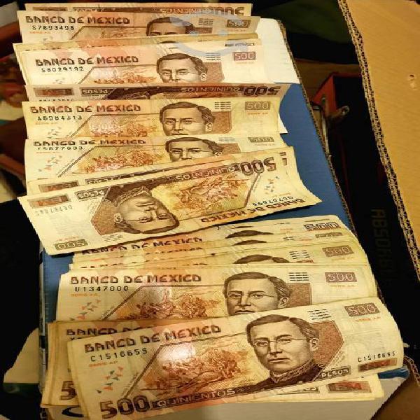Billetes antiguos de colección 500