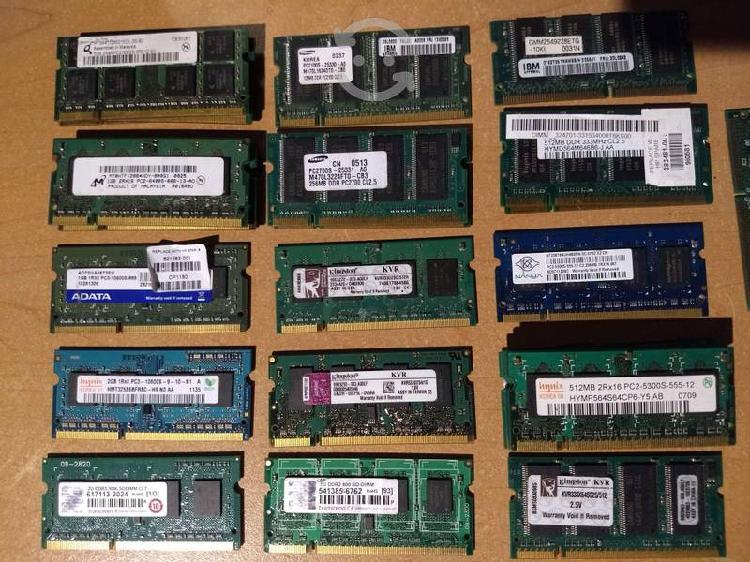 Memorias ram y discos duros para laptop