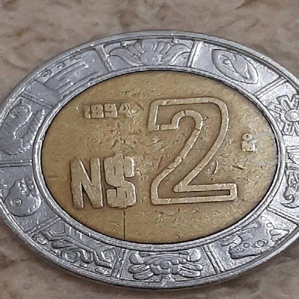 Moneda de 2 nuevos pesos con aparente error