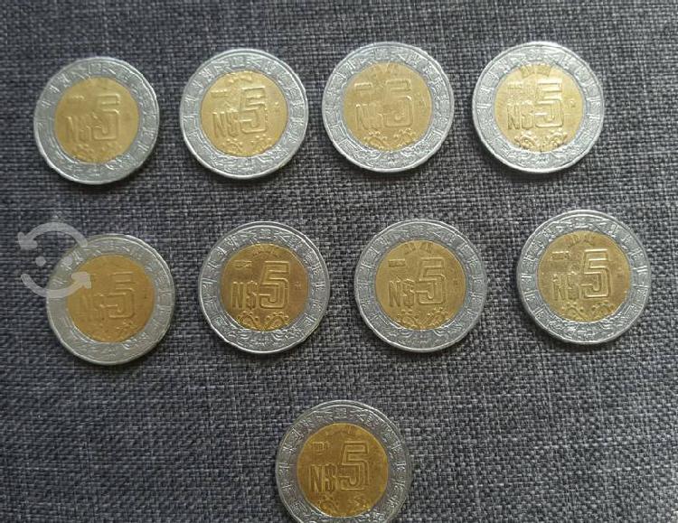 Monedas de colección 5 nuevos pesos